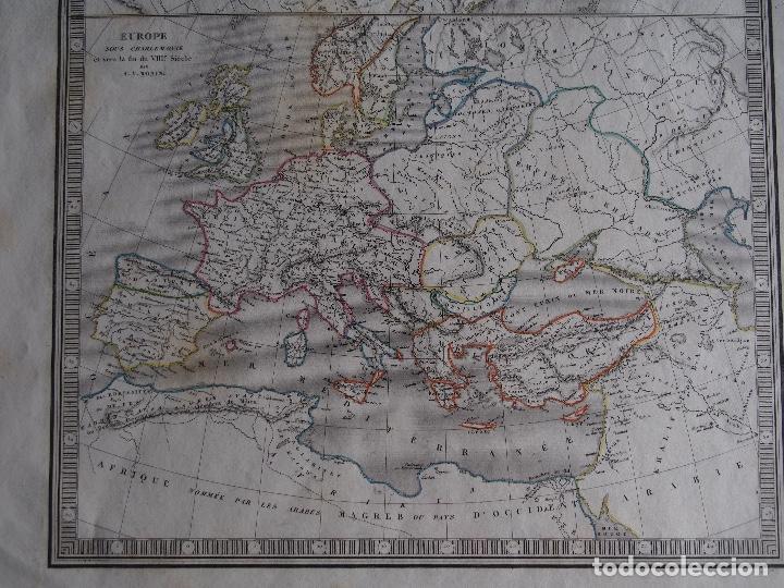 Arte: Europa bajo Carlomagno fines s. VIII Europa Bajo Constantino fin s. IV Charles V. Monin 1838 - Foto 3 - 210006360