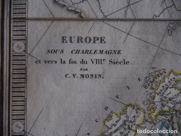 Arte: Europa bajo Carlomagno fines s. VIII Europa Bajo Constantino fin s. IV Charles V. Monin 1838 - Foto 5 - 210006360