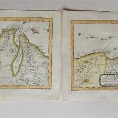Art: VENEZUELA, COLOMBIA, TRINIDAD & TOBAGO – 2 MAPAS POR BELLIN, 1754, CARTE DES PROVINCES DE CARACAS,... Lote 210028250
