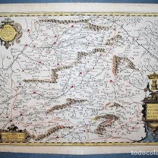 Arte: CASTILIAE VETERIS ET NOVAE DESCRIPTIO. ANNO 1606. MAPA DE CASTILLA. JODOCUS HONDIUS. Lote 210113340