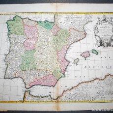 Arte: HISPANIA EX ARCHETYPO RODERICI MENDEZ SYLVAE.... PER G. DE L'ISLE GEOGRAPHUM. MAPA DE ESPAÑA. Lote 7539806