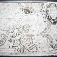 Arte: ZARAGOZA: PLAN OF THE BATTLE OF SARAGOSSA. PLANO ANTIGUO DE ZARAGOZA. ARAGÓN.. Lote 35649666