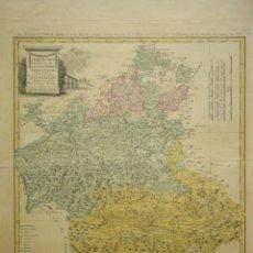 Arte: MAPA DE CASTILLA LA NUEVA, MADRID, TOLEDO Y LA MANCHA DEL SIGLO XVIII. TOMÁS LÓPEZ.. Lote 210130255