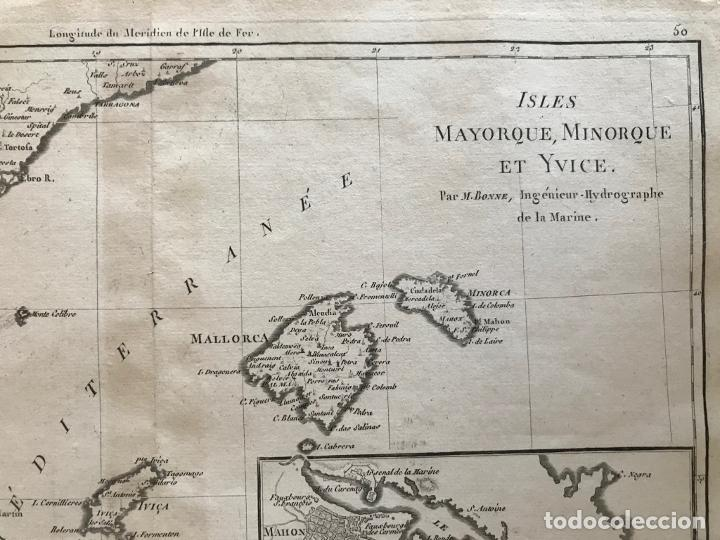 Arte: Mapa de Valencia y las Islas Baleares (España), 1780. Bonne/André - Foto 4 - 210549925