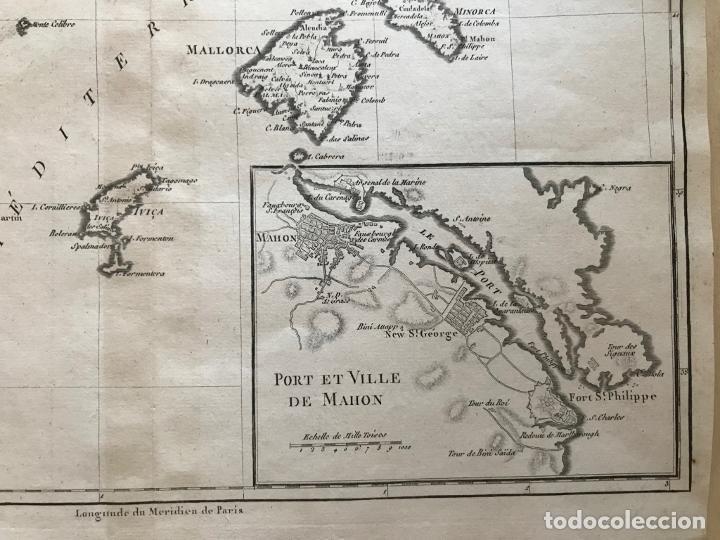 Arte: Mapa de Valencia y las Islas Baleares (España), 1780. Bonne/André - Foto 5 - 210549925