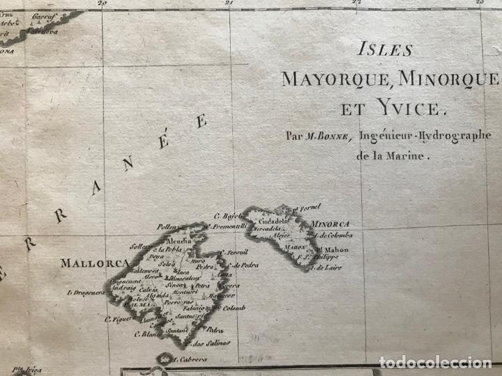 Arte: Mapa de Valencia y las Islas Baleares (España), 1780. Bonne/André - Foto 8 - 210549925