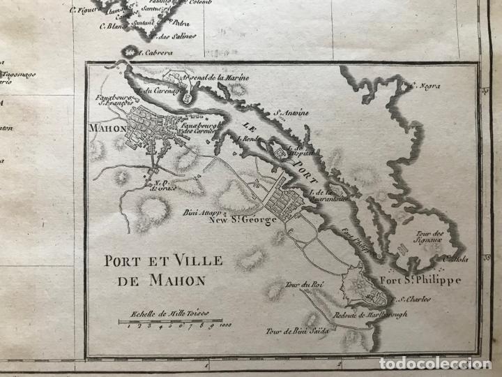 Arte: Mapa de Valencia y las Islas Baleares (España), 1780. Bonne/André - Foto 9 - 210549925