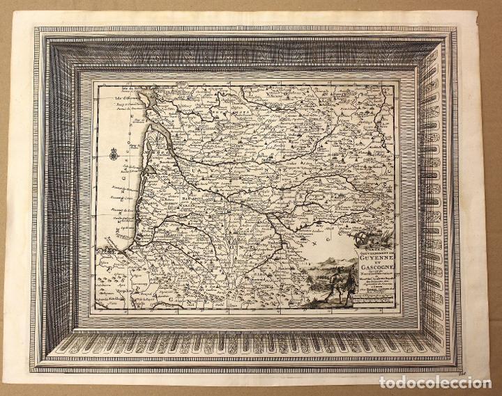 MAPA GOUVERNEMENT DE GUYENNE ET GASCOGNE. FRANCIA. CIRCA 1730 (Arte - Cartografía Antigua (hasta S. XIX))