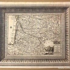 Arte: MAPA GOUVERNEMENT DE GUYENNE ET GASCOGNE. FRANCIA. CIRCA 1730. Lote 210744069