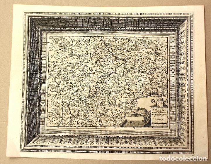 MAPA L'ARCHEVECHE DE TREVES. ARCHIDIOCESIS DE TREVES. FRANCIA. PIERRE VANDER. CIRCA 1730 (Arte - Cartografía Antigua (hasta S. XIX))