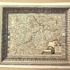 Arte: MAPA L'ARCHEVECHE DE TREVES. ARCHIDIOCESIS DE TREVES. FRANCIA. PIERRE VANDER. CIRCA 1730. Lote 210744139