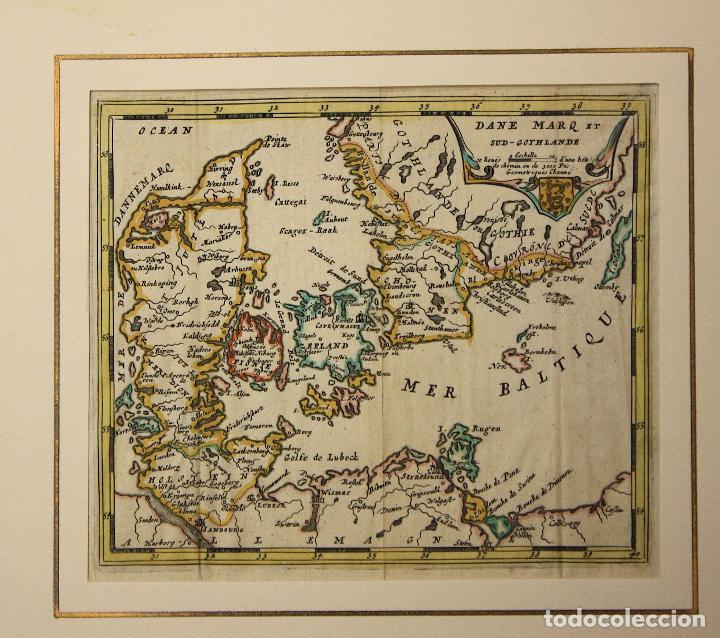 MAPA DANE MARQ SUD-GOTHLANDE. DINAMARCA. SIGLO XVIII (Arte - Cartografía Antigua (hasta S. XIX))