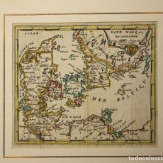 Arte: MAPA DANE MARQ SUD-GOTHLANDE. DINAMARCA. SIGLO XVIII. Lote 210744167