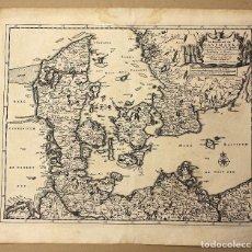 Arte: MAPA LE ROYAUME DE DANEMARK. DINAMARCA. CIRCA 1730. Lote 210744319