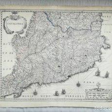 Arte: MAPA DE CATALUÑA - JANSONIUSS HONDIUS - AÑO 1638 - ES ORIGINAL. Lote 211387561