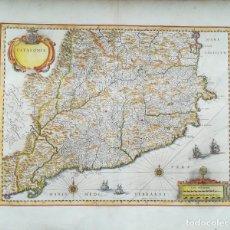Arte: MAPA DE CATALUÑA - BLAEU - AÑO 1640 - ES ORIGINAL. Lote 211411061