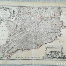 Arte: MAPA DE CATALUÑA - LOCHOM MARIETTE - AÑO 1652. Lote 211412289