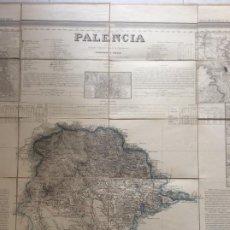 Arte: MAPA PALENCIA. POR COELLO Y MADOZ. AÑO 1852.. Lote 211612506