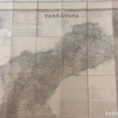 Arte: TARRAGONA. MAPA FRANCISCO COELLO MAPA DE TARRAGONA. COELLO 1858. Lote 211613212
