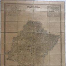 Arte: MAPA DE NAVARRA , POR COELLO Y MADOZ. AÑO 1861. Lote 211613756