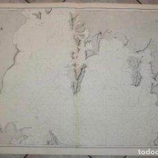 Arte: GRAN CARTA NÁUTICA DEL INTERIOR DE LA BAHIA DE TODOS OS SANTOS (BRASIL), 1867. E. MOUCHEZ. Lote 211705985