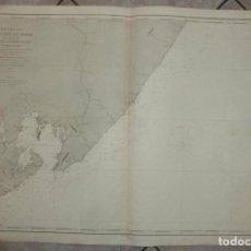 Arte: GRAN CARTA NÁUTICA DE LA BAHIA DE TODOS OS SANTOS Y ALREDEDORES (BRASIL), 1869. E. MOUCHEZ. Lote 211770567
