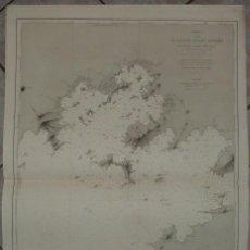 Arte: GRAN CARTA NÁUTICA DE LA BAHIA DE ILHA GRANDE E AGRA DOS REIS (RÍO JANEIRO, BRASIL), 1869. MOUCHEZ. Lote 211774733