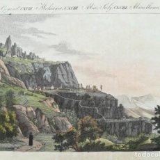 Arte: GRABADO DE MONTSERRAT - AÑO 1792 - ES ORIGINAL. Lote 211954451