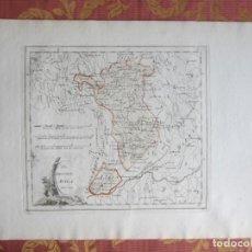 Art: 1791-MAPA ORIGINAL AVILA.CEBREROS.AREVALO.BEROCAL.EL TIEMBLO.MADRIGAL.BONILLA.BURGOHONDO.GAVILANES.. Lote 212151297