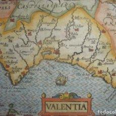 Arte: MAPA DE VALENCIA, ORIGINAL, BERTIUS-HONDIUS, 1603. PERFECTO ESTADO Y COLOREADO. 417 AÑOS ANTIGUEDAD. Lote 212386256