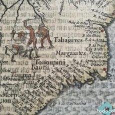 Arte: MARAVILLOSO MAPA BRASIL, ORIGINAL, 1609, AMSTERDAM, LANGENES/ BERTIUS, ESPLÉNDIDO COLOREADO Y ESTADO. Lote 212386851