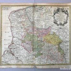 "Arte: MAPA ANTIGUO SIGLO XVIII ANTIGUO ARTOIS FRANCIA. 1760. HOMANN""MEDIDAS TOTALES: 51,7 X 63 CM. MEDIDAS. Lote 212521328"