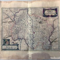 Arte: MAPA ANTIGUO SIGLO XVII QUERCY, FRANCIA. 1636. HENRICUS HONDIUS. Lote 212522062
