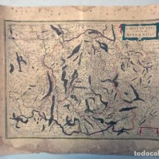Arte: MAPA ANTIGUO SIGLO XVII CARTE PAIS DUCHE NIVERNOIS FRANCIA 1633 MERCATOR HONDIUS. Lote 212528382