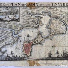 Arte: GRABADO ANTIGUO ORIGINAL. CADIZ / SAN FERNANDO (ESPAÑA). VAN DER AA. AÑO 1726. MUY RARO. Lote 212717740