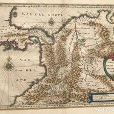 Arte: GRAN MAPA DE COLOMBIA Y PANAMÁ (AMÉRICA ), HACIA 1635. WILLEM JANSONIUS BLAEU. Lote 213232222