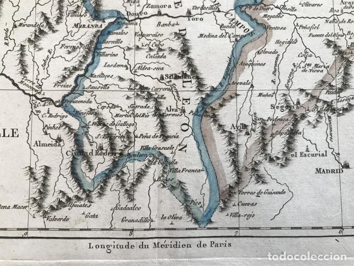 Arte: Mapa de Galicia, Asturias, León, Cantabria, País Vasco,.. (España), 1787. Bonne/Herisson/André - Foto 8 - 213306330