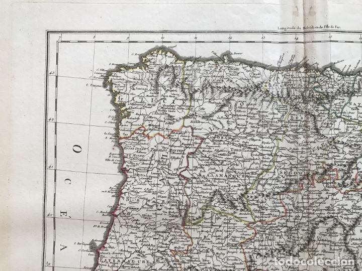 Arte: Mapa de España y Portugal, 1804. Poirson/Tardieu/Mentelle/Malte Brun - Foto 3 - 213308533