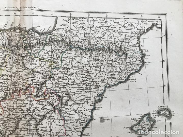 Arte: Mapa de España y Portugal, 1804. Poirson/Tardieu/Mentelle/Malte Brun - Foto 4 - 213308533