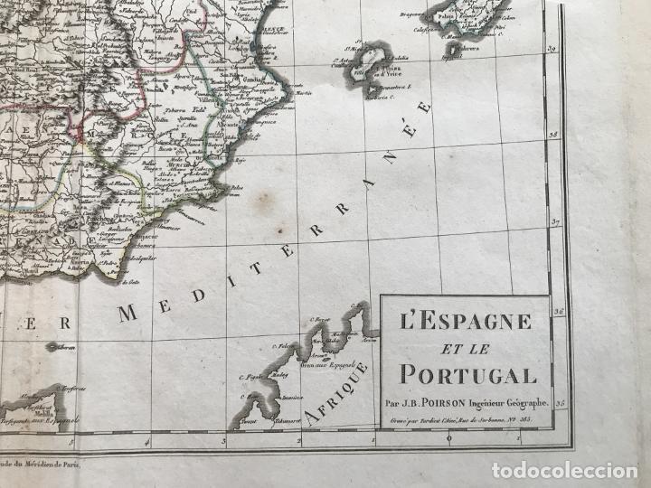 Arte: Mapa de España y Portugal, 1804. Poirson/Tardieu/Mentelle/Malte Brun - Foto 5 - 213308533