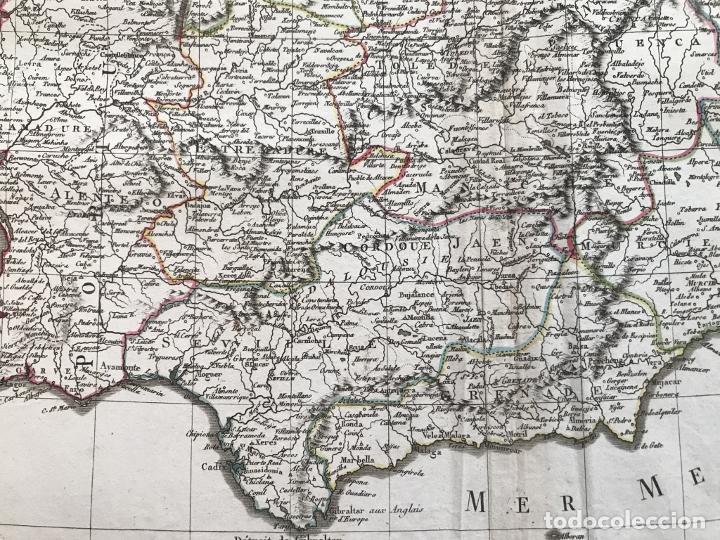 Arte: Mapa de España y Portugal, 1804. Poirson/Tardieu/Mentelle/Malte Brun - Foto 8 - 213308533