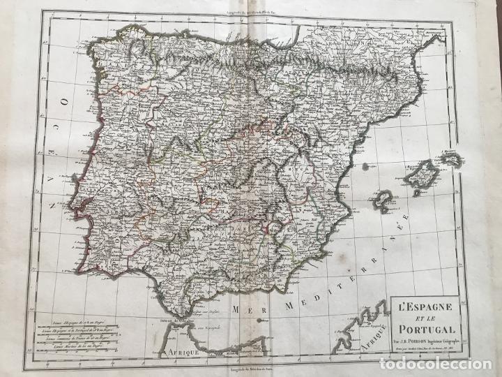 Arte: Mapa de España y Portugal, 1804. Poirson/Tardieu/Mentelle/Malte Brun - Foto 9 - 213308533