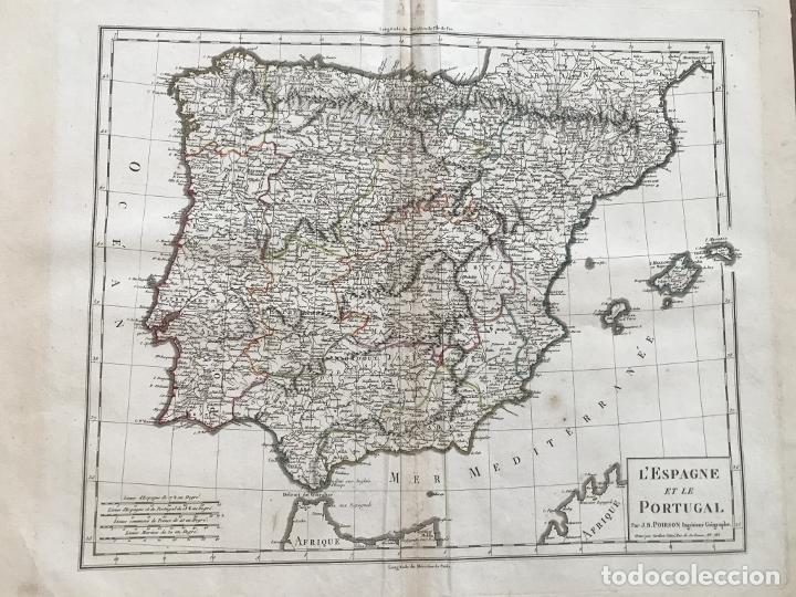 MAPA DE ESPAÑA Y PORTUGAL, 1804. POIRSON/TARDIEU/MENTELLE/MALTE BRUN (Arte - Cartografía Antigua (hasta S. XIX))