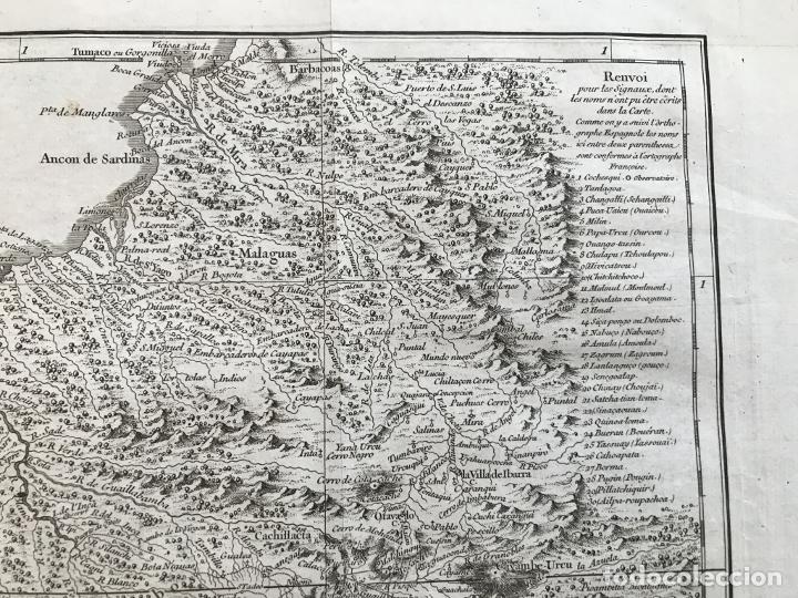 Arte: Mapa de la antigua provincia de Quito o Perú (Ámerica del sur), ca. 1746. Anville/Prevost - Foto 4 - 213310325