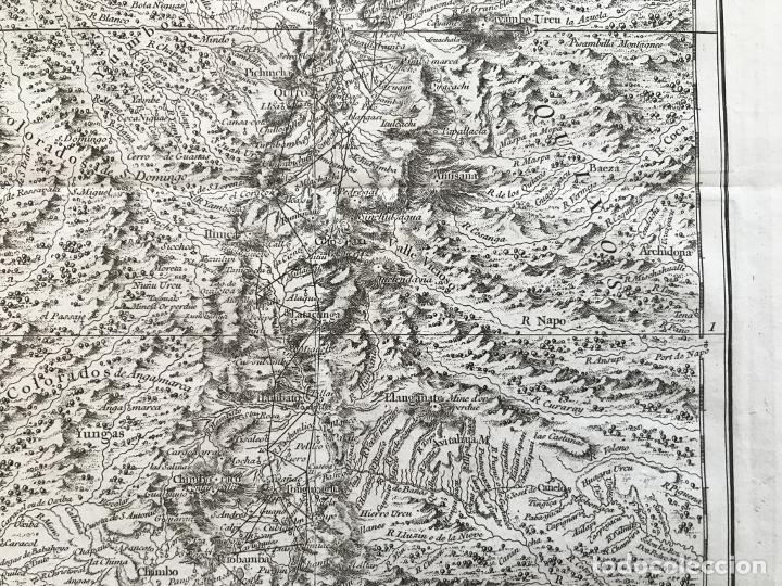 Arte: Mapa de la antigua provincia de Quito o Perú (Ámerica del sur), ca. 1746. Anville/Prevost - Foto 6 - 213310325