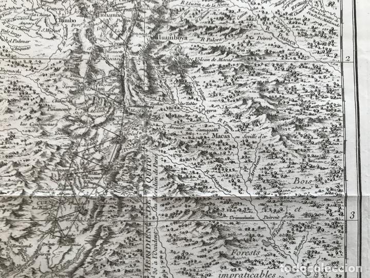 Arte: Mapa de la antigua provincia de Quito o Perú (Ámerica del sur), ca. 1746. Anville/Prevost - Foto 8 - 213310325