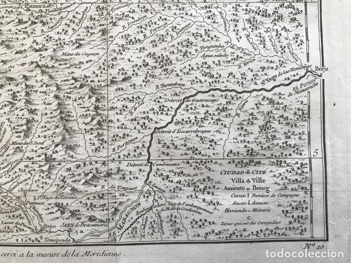 Arte: Mapa de la antigua provincia de Quito o Perú (Ámerica del sur), ca. 1746. Anville/Prevost - Foto 10 - 213310325
