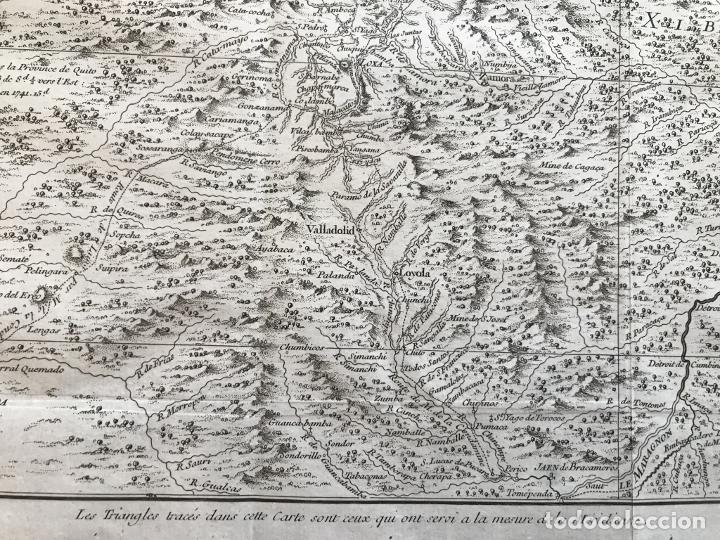 Arte: Mapa de la antigua provincia de Quito o Perú (Ámerica del sur), ca. 1746. Anville/Prevost - Foto 11 - 213310325