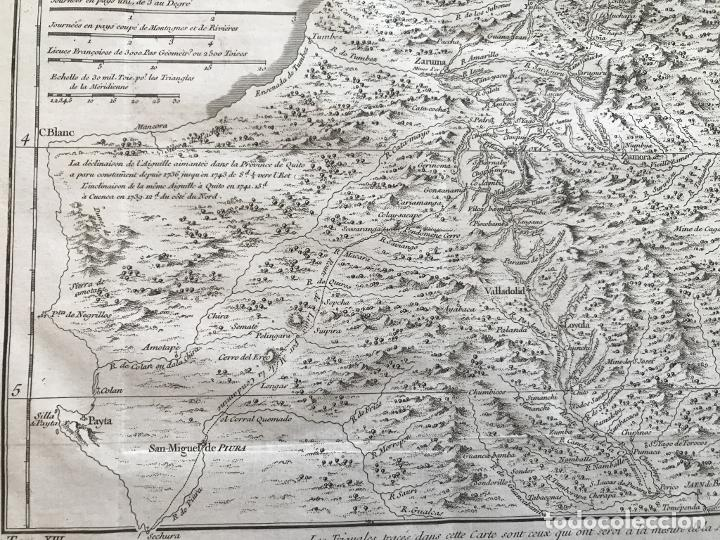 Arte: Mapa de la antigua provincia de Quito o Perú (Ámerica del sur), ca. 1746. Anville/Prevost - Foto 12 - 213310325
