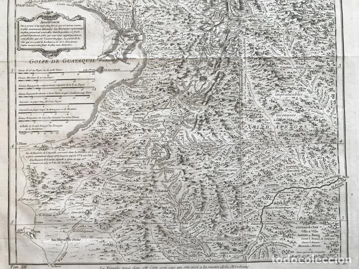 Arte: Mapa de la antigua provincia de Quito o Perú (Ámerica del sur), ca. 1746. Anville/Prevost - Foto 15 - 213310325